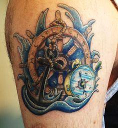 by Birdie at Black Rabbit Tattoo Studio in Port Moody, BC Rabbit Tattoos, Tattoo Studio, Nautical, Black, Navy Marine, Bunny Tattoos, Black People, Nautical Style, Nautical Theme