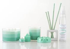 New Fresh Aloe Eucalyptus fragrance - The dewy freshness of tropical morning rain cleanses your space. Watery notes and natural eucalyptus create a serene setting, especially in the bathroom.