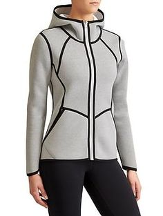 Reversible Incline Jacket - This reversible hoodie (from bright color to heathered) is sleek, structured and form-flattering with just enough coverage at the front and a covers-your-assets back.