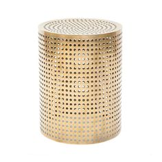 The elegant Precision Occasional Table is made of UN-LACQUERED, POLISHED BRONZE. This cool modern beauty measures 14 inches in diameter and stands 18 inches high. And the cost? Just a casual $2800.