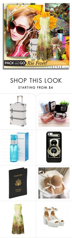 """Ri Fever! Pack and Go with YesStyle!"" by shinee-pearly ❤ liked on Polyvore featuring Globe-Trotter, Casetify, Royce Leather and JY Shoes"