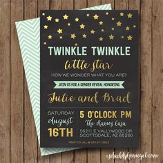 Twinkle Twinkle Little Star Gender Reveal Invite GIVEAWAY!!