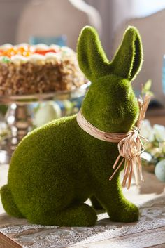 There's a special guest coming to your Easter garden party, and he's ready to celebrate. Formed by hand in papier-mâché, Pier 1's Sitting Moss Bunny is camouflaged to blend in with natural surroundings. If you want him, hop to it!