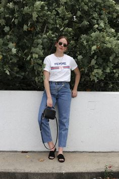 Casual jeans and tee combination | Femme tshirt