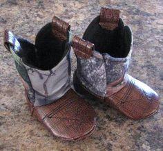 Baby Cowboy Boots, Mossy Oak Camo. $25.00, via Etsy.