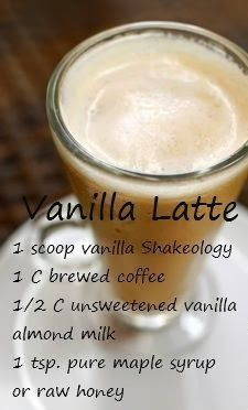 As with all Shakeology recipes use ice to the consistency you desire. Adding more ice will make a thicker shake. Use a blender to mix well. I am a Beachbody coach and am happy to answer any questions you may have about our products including Shakeology. Shakeology Shakes, Beachbody Shakeology, Vanilla Shakeology, Herbalife Shake, Protein Powder Recipes, Protein Shake Recipes, Healthy Recipes, Protein Shakes, Healthy Eats