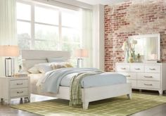 Crestwood Creek Off-White 7 Pc King Panel Bedroom .1655.0.  Find affordable King Bedroom Sets for your home that will complement the rest of your furniture.  #iSofa #roomstogo