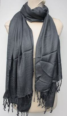 Viscose Plain Pashmina Scarf Shawl Wrap Throw Stole - Buy New: £1.65 - £5.50 [UK & Ireland Only]
