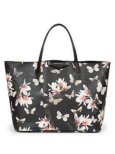 Givenchy Antigona Large Floral Saffiano Faux-Leather Shopper