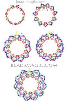 Free pattern for earrings Berry Juice