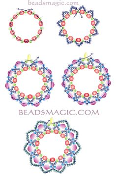 Free pattern for earrings Berry Juice - 2