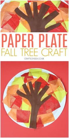 Easy Paper Plate Fall Tree Craft - Crafts on Sea This easy fall tree craft for kids can be adapted to suit different ages and it a great way for kids to explore the beautiful fall colours. Fall Arts And Crafts, Easy Fall Crafts, Fall Crafts For Kids, Toddler Crafts, Fall Crafts For Preschoolers, Kids Diy, Fall Activities For Toddlers, Fall Preschool, Autumn Activities