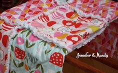 Gorgeous Organic Baby/Toddler/Little Girl Quilt - Juicy - Ready to Ship!
