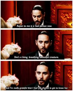 @Jared Randall Randall LETO : - Rayon to me is a real person now...  >>> pic.twitter.com/oFhREtRKyL