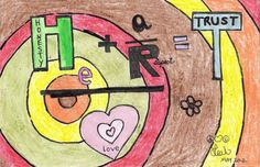 """Trusted Saskatoon Contest entry- What does Trust mean to you?  """"As childish as it looks, I worked pretty hard at this to show what trust means to me. Anyone who knows me, will know how """"me"""" this is! (mediums used: crayon, black ink pen, and permanent marker.)"""" Leah C"""