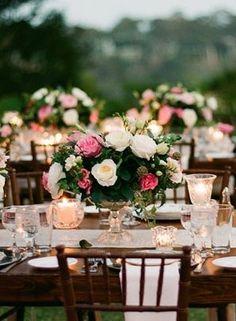 Gorgeous centerpieces with an English garden flair.