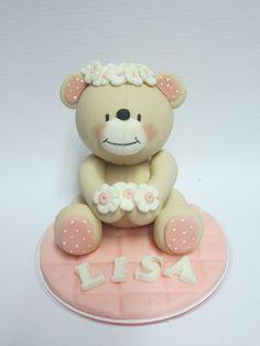 Baby bear cake topper .