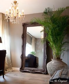 Large plants can make a great statement in your home. Use them to style up you living room. Adding colour, texture and visual interest. #InteriorDesign #Interiors