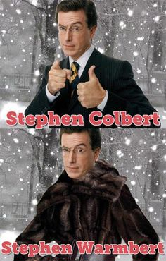 Funny Celebrity Stephen Colbert–Funny Close Enough Pics Punny Puns, Puns Jokes, Memes, Celebrity Name Puns, Celebrity Pictures, Terrible Jokes, Best Funny Jokes, Smosh, Stephen Colbert