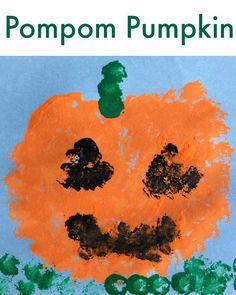 Pompom Pumpkins: a fun craft for kids!
