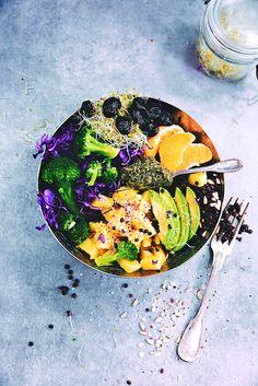 Saveurs Végétales: ► Veggie bowl (lentilles, pommes de terre & tartare d'algues) !