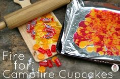 Fire Decoration for Cupcakes