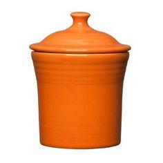 Fiesta® Dinnerware Jam Jar in Tangerine. Made in the USA by the Homer Laughlin China Company   Wayfair