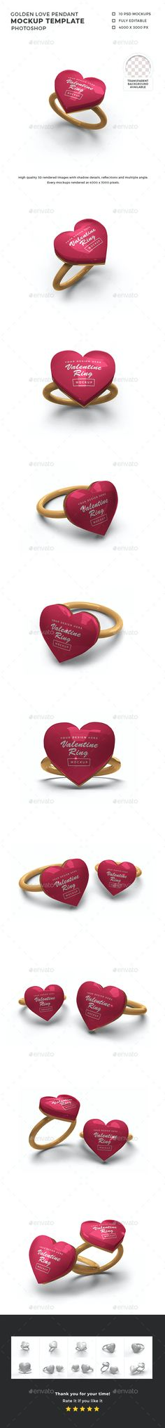 Valentine Love Ring Mockup Template by DendySign | GraphicRiver