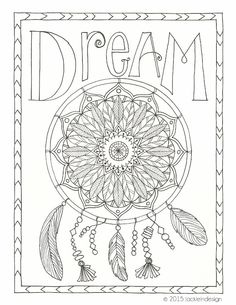 169 Best DreamCatcher Coloring Pages for Adults images in