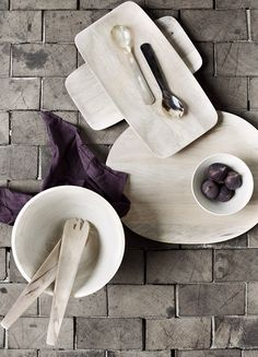 Broste Copenhagen Wooden Ladle, Broste Copenhagen, Copenhagen Style, Kitchenware, Tableware, Purple Interior, Contemporary Classic, Wood Creations, Wood Glass