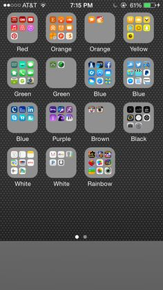 Apps organized by color