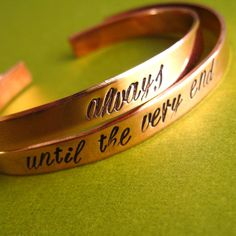"""Harry Potter Bracelets Set of 2: """"Always"""" and """"Until the Very End"""" o-o"""