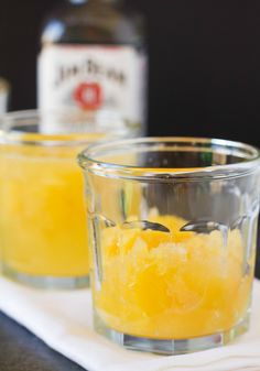 Bourbon Slush Recipe | Brown Eyed Baker-- this looks refreshing- def for the beach!!