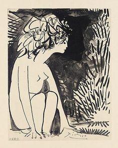 Pablo Picasso - Genevieve Laporte. Les Cavaliers.
