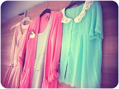 Candy colored summer clothes