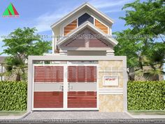 Mẫu thiết kế nhà đẹp có gác lửng 5x16,5 mặt tiền mái thái M49- 550 triệu Home Fashion, Lunges, House Plans, Shed, Home And Garden, Outdoor Structures, Rustic, House Styles, Outdoor Decor