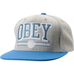 3751930ff98 Obey Athletics Heather Grey Blue Snapback Hat ( 28) ❤ liked on Polyvore