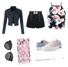 """""""ete"""" by sisiassia on Polyvore featuring LE3NO, Zipz, Kate Spade, Yves Saint Laurent, women's clothing, women, female, woman, misses and juniors"""