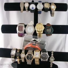 Wholesale Lot 18 Watches Citizen Fossil Timex Expedition Armitron Chico'S SuzePlace.com