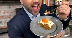 Wenches saftige, søte, smaksrike og mye omtalte (av Peter i dag) gulrotkake! Pudding, Desserts, Food, Meal, Custard Pudding, Deserts, Essen, Hoods, Dessert