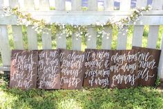 Rustic Wooden Wedding Aisle Sign // 1 Corinthians 13 Wedding Verse Signs by ThePaperWalrus on Etsy