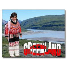 Shop Greenland Postcard created by Personalize it with photos & text or purchase as is! Folk Costume, Costumes, Beaded Collar, Arctic, Santa, Faces, Products, Nature, Beaded Necklace