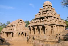 Bhima_and_Dharmaraja_temples.Mahábalipuram