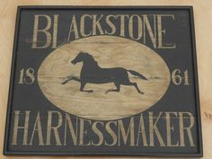 Primitive Harnessmaker Horse Wood Trade Sign Folk Art Board on Etsy, £102.30