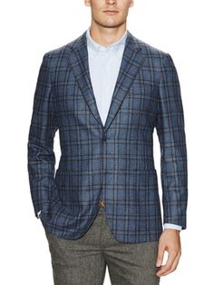 Wool Plaid Sportcoat  from Made in Italy: Suits and Blazers on Gilt
