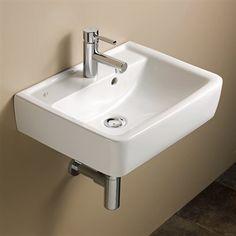 Bissonnet 272150 Elements Renova 50 Ceramic Bathroom Sink This bathroom sink by Bissonnet comes in a white finish.  BissonnetElements Renova 50 Ceramic