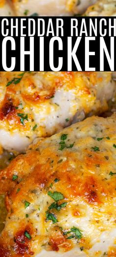 This Easy Baked Cheddar Ranch Chicken Thighs Recipe can be whipped up in just a few minutes, popped in the oven and baked while you make some veggies and dinner can be done easily in under 35 minutes! Perfect last minute easy Keto Dinner! Baked Ranch Chicken, Ranch Chicken Recipes, Easy Baked Chicken, Baked Chicken Breast, Baked Chicken Recipes, Healthy Chicken, Chicken Thigh Recipes Easy, Cracker Chicken, Chicken Thigh Casserole