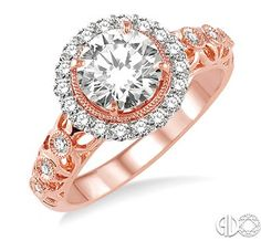Rose Gold Engagement Ring!  Lauhoff Jewelry