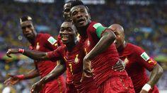 Ghana celebration.   www.supersoccersite.com