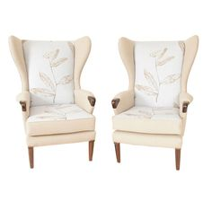 A Pair of 1950u0027s Parker Knoll u0027Leafu0027 Wingback Armchairs  sc 1 st  Pinterest & How to Reupholster a Parker Knoll Chair | Parker knoll chair Knoll ...